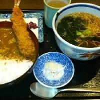 カレー丼と蕎麦