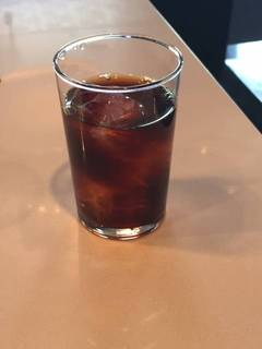 ランチのフリードリンク(アイスコーヒー)