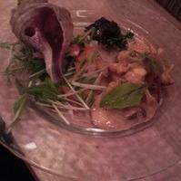 つぶ貝と旬野菜のカルパッチョ