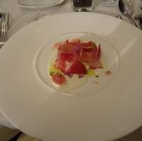ジャガイモのエクラゼサラダと山葵風味のクリームチーズ