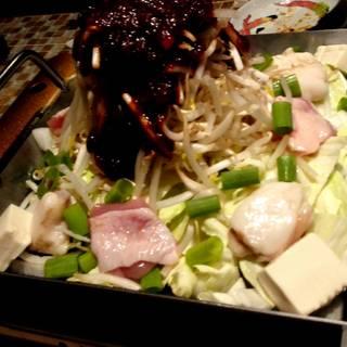 鶏王特製ちり鉄板焼