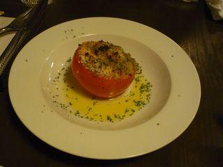 トマトの香草パン粉グリル