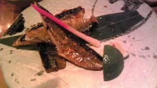 秋刀魚の肝醤油焼き