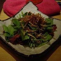 パリパリじゃが芋とほうれん草のサラダ