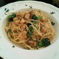 いろいろ魚介のサフラン風スパゲッティ