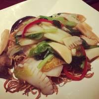 海鮮と季節野菜のあんかけ焼きそばセット
