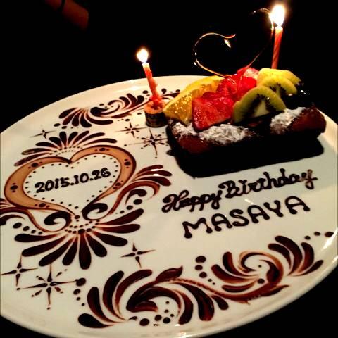 シェフの手作り記念日ケーキ