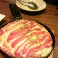 カニとチーズの鉄板オムレツ
