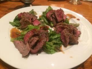 ステーキ牛の炙りカルパッチョ 和風きざみ山葵ソース