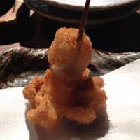 飯蛸の串揚げ