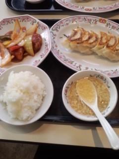 ミニ酢豚ランチセット