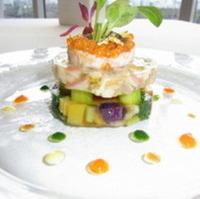 冬野菜と貝類の菜園模様
