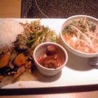 豚肉とカボチャのピリ辛炒め
