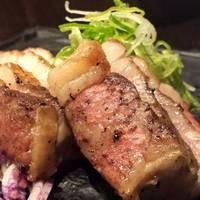 京都肉バラ肉の炭焼き