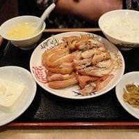 揚げ鶏の香味ソースかけ定食ランチ