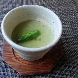 アスパラガス豆腐