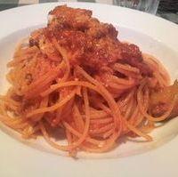 自家製ボロネーズと揚げ茄子のスパゲッティ