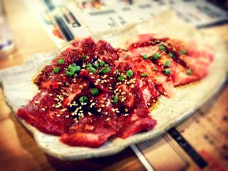 カルビ+ハラミ定食