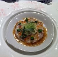 毛蟹とマダイのレムラードソース