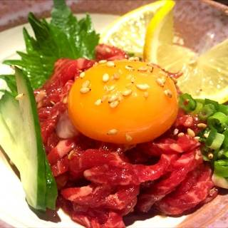 黒毛和牛レアステーキ(ユッケ味)