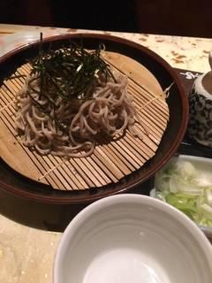 薩摩軍鶏蒸篭蕎麦