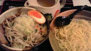 炒め野菜つけ麺