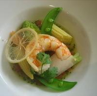 海老と野菜のレモン風味