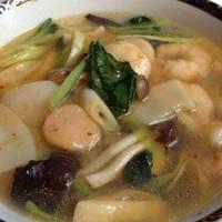 海老と帆立貝のあんかけ麺