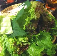 生野菜の山盛り