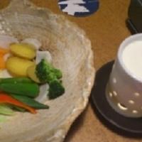 蒸し野菜の農園チーズフォンデュ