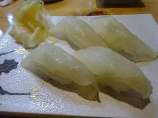 ヒラメの昆布〆寿司