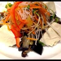 福島産こだわり豆腐と揚げ秋野菜のサラダ