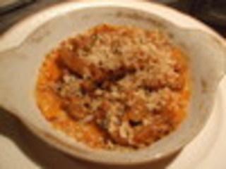 牛ハチノスとポルチーニ茸のトマト煮込み
