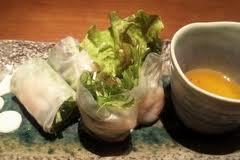海老と水菜の生春巻き