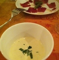 ジャガイモの冷たいスープ
