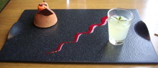 チョコレートムースとジュレ