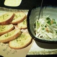 鮪タルタルDEガーリックトースト