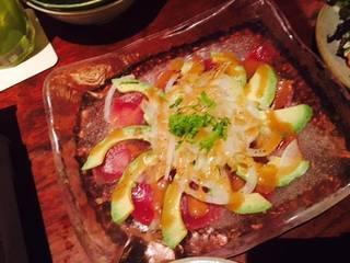 赤身魚のアジアンカルパッチョ