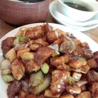 鶏肉の中華味噌炒めランチ
