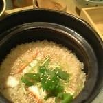 カニの土鍋飯