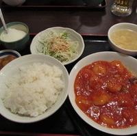 日替定食 海老のチリソース