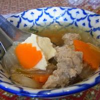 豆腐と野菜のスープ