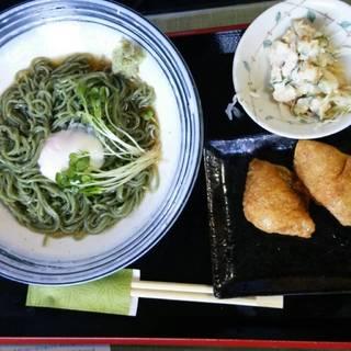 よもぎ蕎麦の昼定食