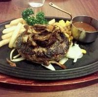 170g黒×黒ハンバーグステーキ
