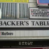 BACKER'S TABLE