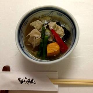 冬瓜と夏野菜 湯葉あん 冷し小鉢