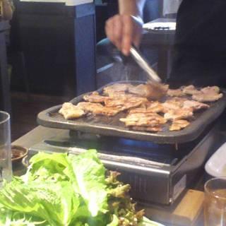 サムギョプサル肉食べ放題・飲み放題セット