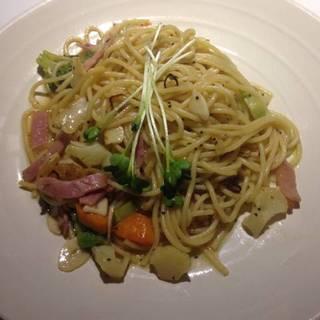 温野菜の和風ペペロンチーノ