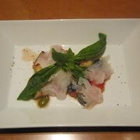 真鯛のカルパッチョ ラタトゥユ仕立て