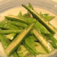 緑黄色野菜の胡麻塩炒め